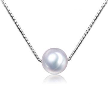 珍珠美人白色淡水珍珠吊坠