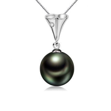 珍珠美人大溪地黑珍珠吊坠