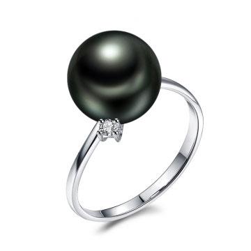 珍珠美人大溪地黑珍珠戒指