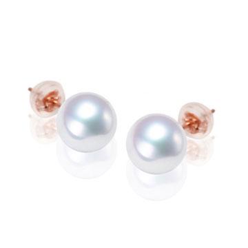 珍珠美人经典百搭白色淡水珍珠耳钉