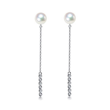 珍珠美人日本海水珍珠耳环