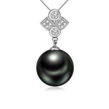 珍珠美人时尚大溪地黑珍珠吊坠
