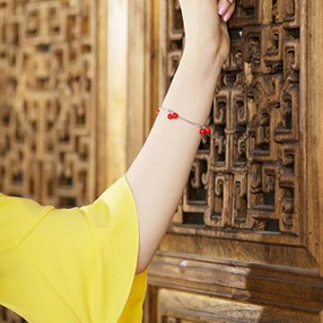 瓷海瓷业红豆相思手链瓷首饰
