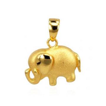 情脉珠宝大象硬金黄金吊坠