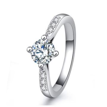 千色叶欧美八心八箭锆石戒指