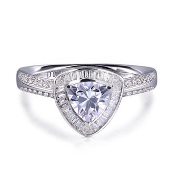 520【奢华】系列钻石婚戒18K金精工