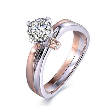 520【指间】系列米兰钻石婚戒18K金