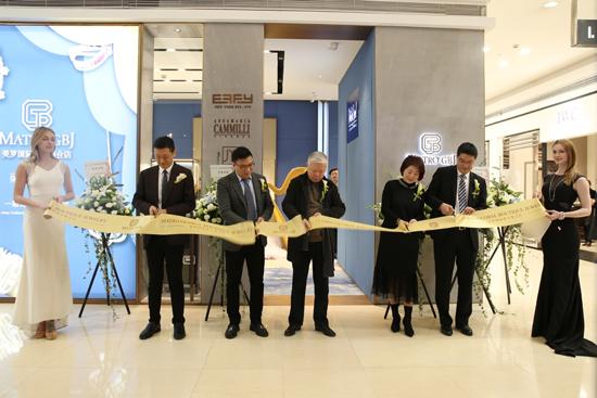 函数集团美罗百货代表及MATRO GBJ总经理沈凯上台剪彩