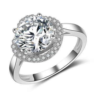 S925鍍白金復古純銀戒指