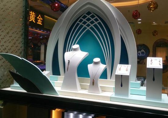 幾何造型在珠寶陳列中的運用