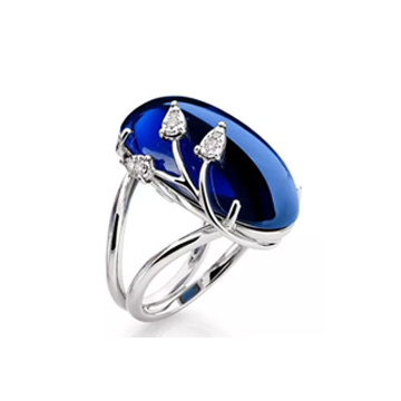 伊莱卡银宝石系列精致宝石戒指