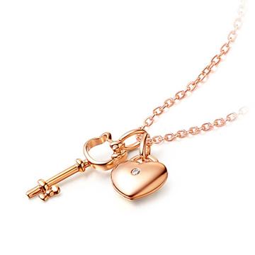 金行家珠寶時尚精美鑰匙K金項鏈