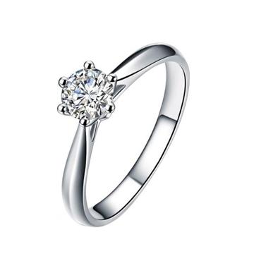 创富珠宝经典六爪钻石戒指