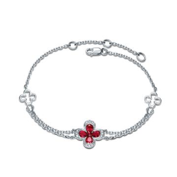 创富珠宝红宝石手链