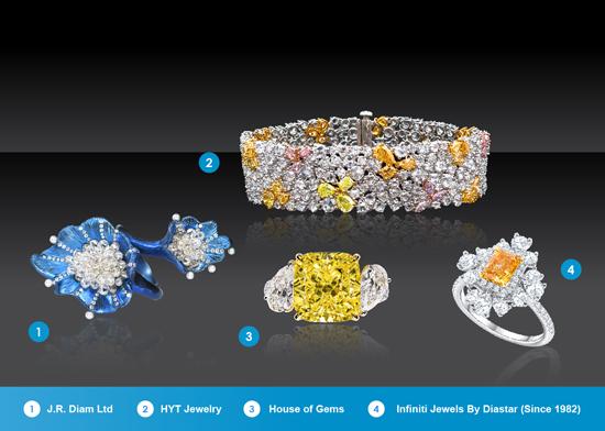 不同品级的优质钻石系列,六月香港珠宝首饰展览会