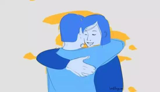 环肩式拥抱——我对你完全信赖