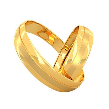 六福典雅精美黄金对戒