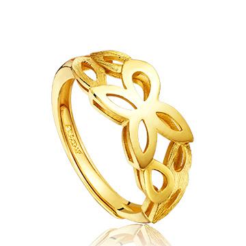 六福典雅精美黄金戒指