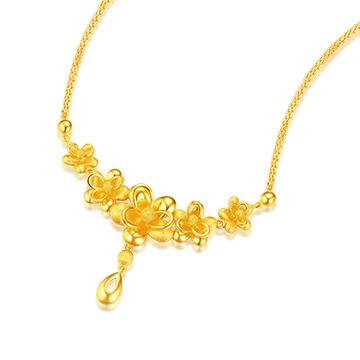 六福典雅精美黄金项链