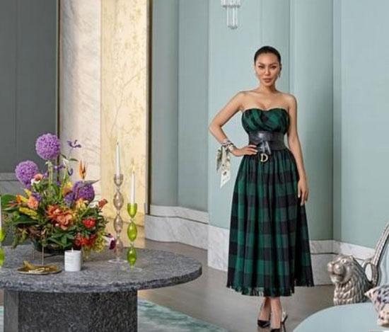 著名珠寶設計師萬寶寶,時尚《安邸AD》九月封面