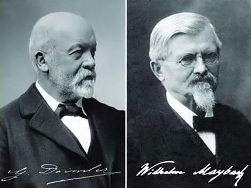 戈特利布·戴姆勒(左)與威廉·邁巴赫(右)