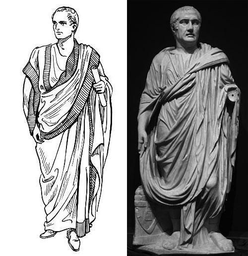 穿長袍的古羅馬人