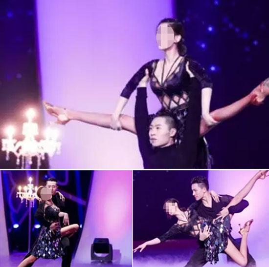 黃圣依與搭檔演繹熱辣拉丁舞