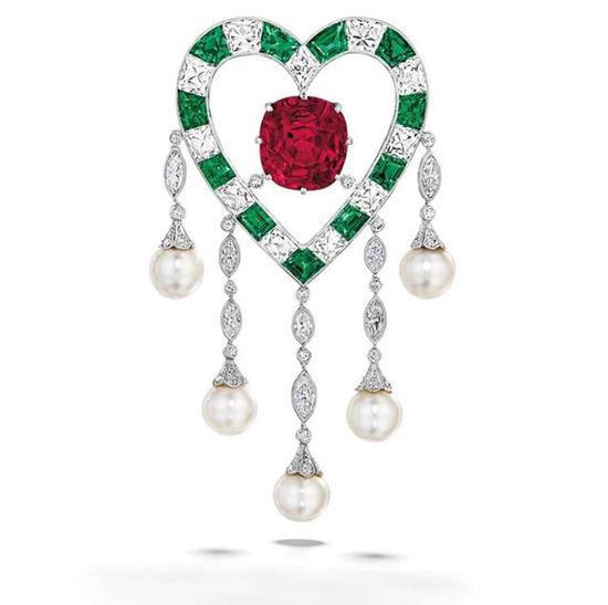 佳士得极品珠宝,红宝石胸针