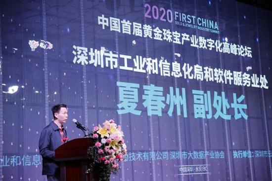 深圳市工业和信息化和软件服务业处副处长夏春州致辞