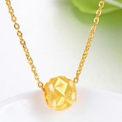 黄金吊坠适合应该配什么样的项链,黄金吊坠