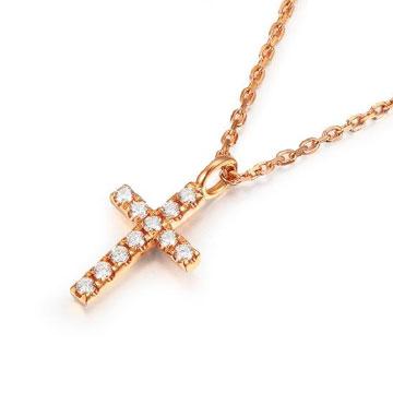 金生福珠寶信仰-金750鉆石項鏈