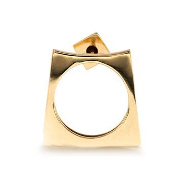 记忆珠宝都灵系列方圆耳饰