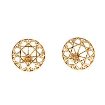 记忆珠宝都灵系列几何线条耳饰