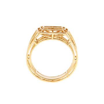 记忆珠宝都灵系列几何线条戒指