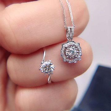 菲洛澜钻石项链钻石戒指