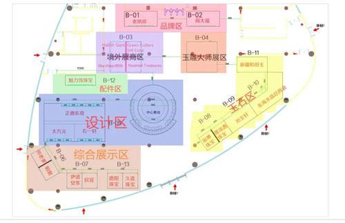 2020山下湖國際珠寶展B館展廳布局圖