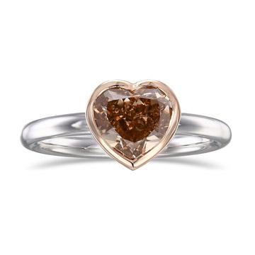 耳丁小K-1.60克拉香槟钻石戒指