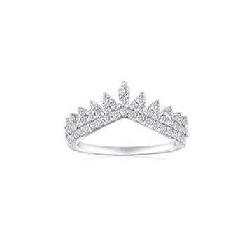 奢美珠宝齿形花边戒指女