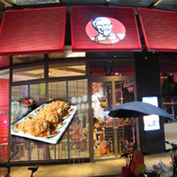 蓝云光科技麦当劳橱窗透明屏