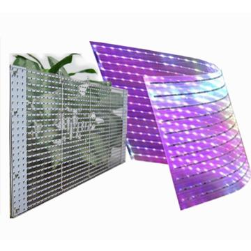 蓝云光科技贴膜透明屏