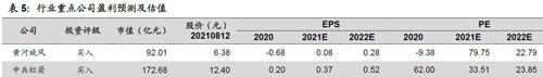 行业重点公司盈利预测及估值